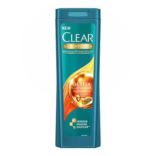 Купить Шампунь для волос CLEAR SCALPFOODS DETOX Увлажняющий против перхоти 200 мл, РОССИЯ/ RUSSIA