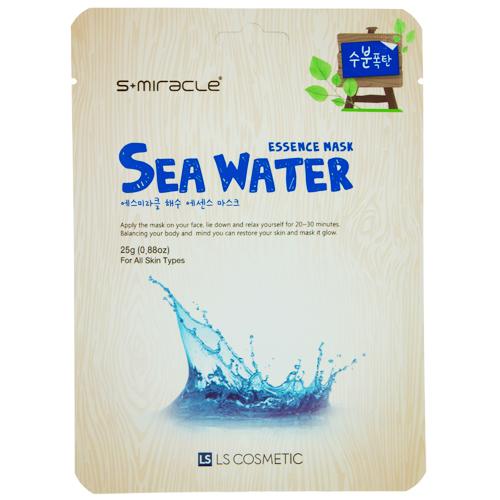 Маска для лица `S+MIRACLE` с морской водой 25 гМаски<br>Маска глубоко увлажняет кожу лица, благодаря морской воде, которая является богатым источником таких полезных для кожи минералов, как магний, кальций, селен, цинк, фтор. Морская вода интенсивно питает кожу, придает здоровый цвет лицу и насыщает кожу кислородом, эффективно выводит токсины из организма, активно поддерживает правильный кислотно-щелочной баланс, благотворно влияет на обменные процессы в клетках кожи.<br>