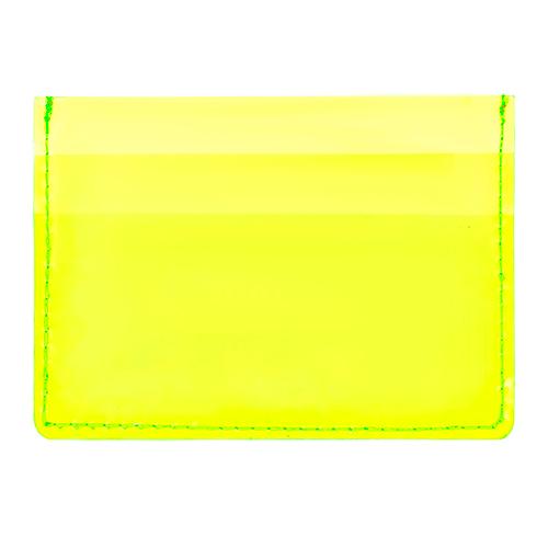 Кардхолдер LADY PINK неоновый прозрачный желтый фото