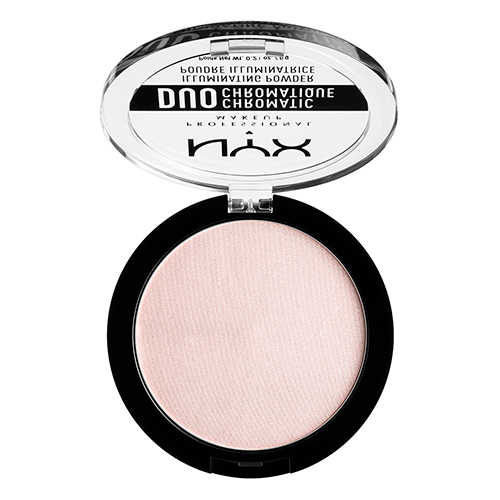 Хайлайтер для лица `NYX PROFESSIONAL MAKEUP` DUO CHROMATIC тон 04 snow rose