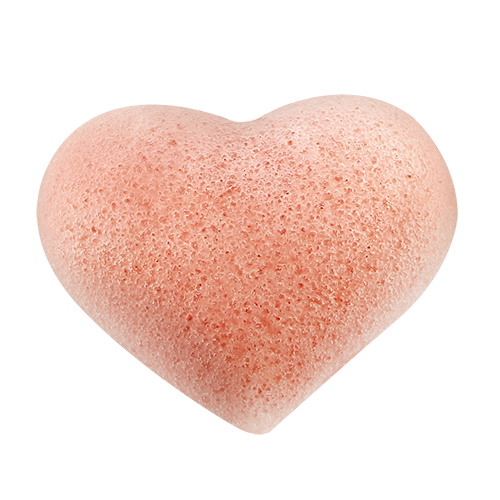 Спонж из конняку DE.CO. CLEAN Сердце розовый