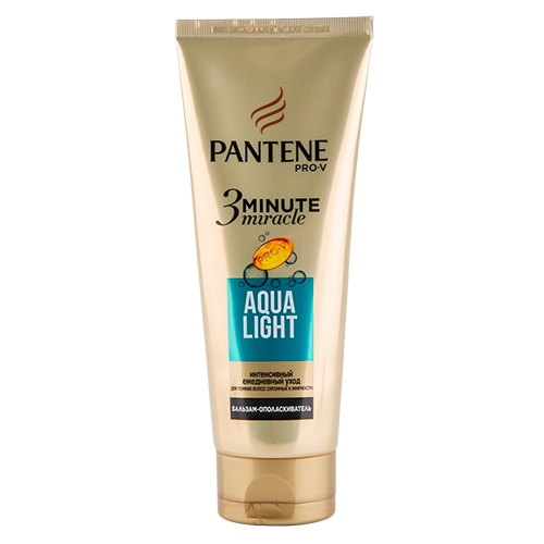 Бальзам-ополаскиватель для волос `PANTENE PRO-V` `3 MINUTE MIRACLE` AQUA LIGHT  200 млБальзамы и ополаскиватели<br>Откройте для себя силу обогащенной формулы Pro-V в бальзаме-ополаскивателе для ежедневного применения с эффектом маски для волос, склонных к жирности.<br>Для тонких волос, склонных к жирности<br>