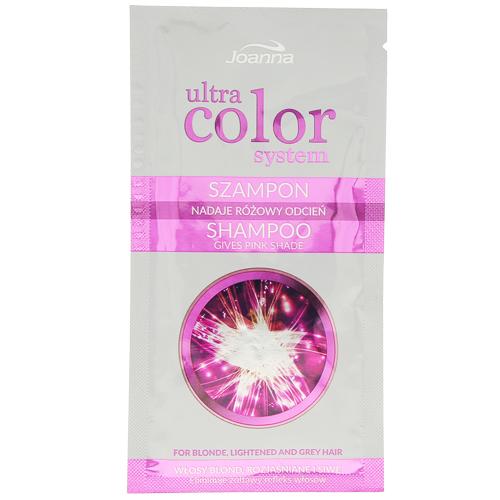 Оттеночный шампунь для волос JOANNA ULTRA COLOR SYSTEM тон розовый против желтизны 20 мл