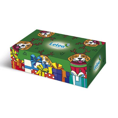 Купить Салфетки бумажные LELEA NEW YEAR Happy dogs 2-х слойные 100 шт, РОССИЯ/ RUSSIA