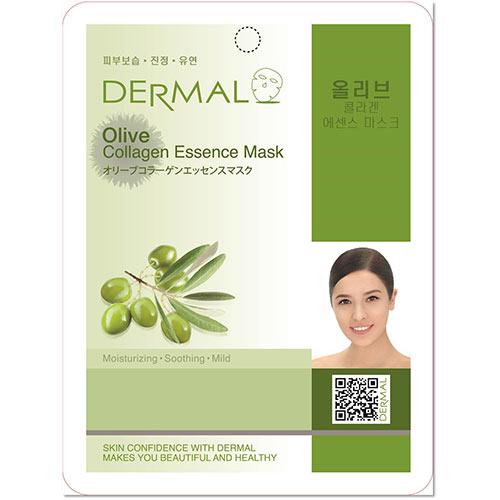 Маска для лица `DERMAL` Олива и коллагенМаски<br>Коллагеновая маска лица Dermal с  экстрактом оливы предотвращает вредное воздействие ультрафиолета и низких температур на кожу. Способствует сохранению в клетках влаги, рекомендована обладательницам сухой кожи. Маска предотвращает раннее старение кожи, выравнивает кожный рельеф, обновляет клетки, налаживает подкожное кровообращение, снабжая клетки кожи достаточным количеством кислорода. Рекомендуется использовать после посещения солярия и пляжа. Сочетание экстракта оливы и витамина Е обеспечат необходимое питание для эластичности кожи.<br>