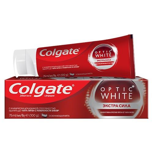 Паста зубная COLGATE OPTIC WHITE Экстра сила 75 мл