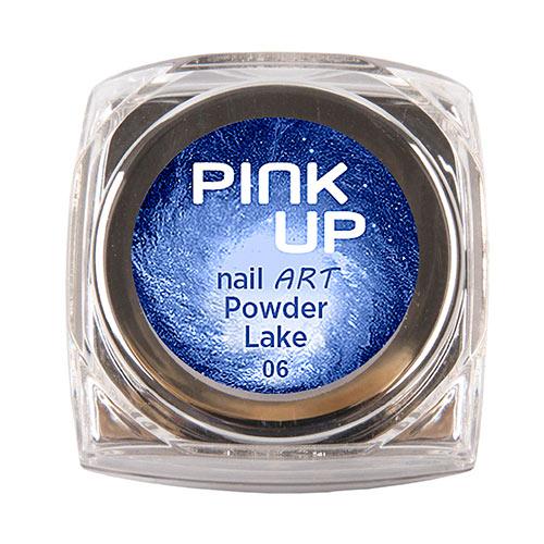 Втирка для ногтей `PINK UP` NAIL ART тон Lake 3 грДизайн ногтей<br>Зеркальная втирка для ногтей Pink UP, 3гр Предназначена для втирания в верхнее покрытие без липкого слоя поверх лака, гель-лака или геля.<br>