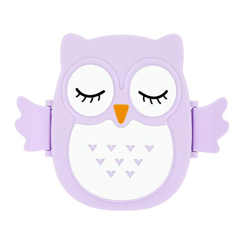 Ланч-бокс `FUN` OWL violet 16 см
