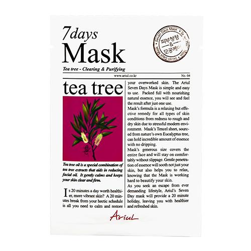 Купить Маска для лица ARIUL 7 DAYS с экстрактом чайного дерева очищающая 20 г, РЕСПУБЛИКА КОРЕЯ/ REPUBLIC OF KOREA