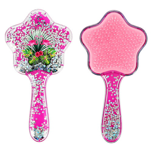 Купить Расческа для волос LADY PINK малиновая с блестками, КИТАЙ/ CHINA