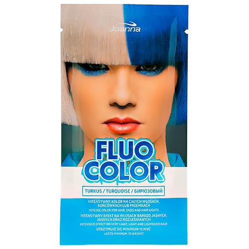 Оттеночный шампунь для волос JOANNA FLUO COLOR тон бирюзовый 35 г