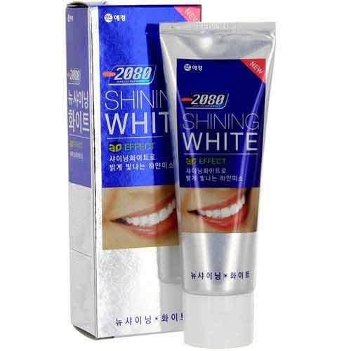 Паста зубная 2080 Сияющая Белизна 100 грЗубные пасты<br>3D оббеливающий эффект. Мелкодисперсные гранулы  проникают в отдаленные уголки полости рта, эффективно удаляют налет с поверхности зубов, не стирая эмаль. Тетрапирофосфат натрия предотвращает появление зубного камня. Витамин Е препятствует развитию заболеваний десен.<br>