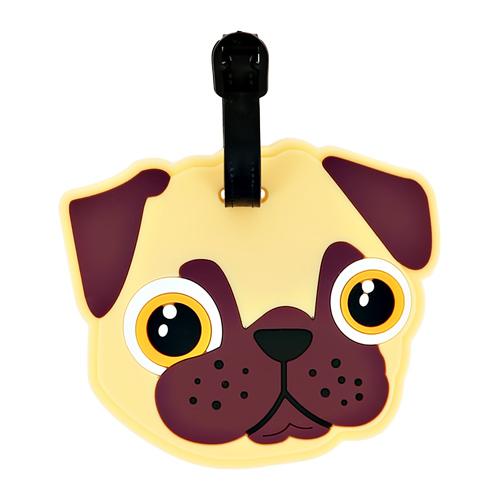 Бирка для чемодана LADY PINK силиконовая Собачка фото