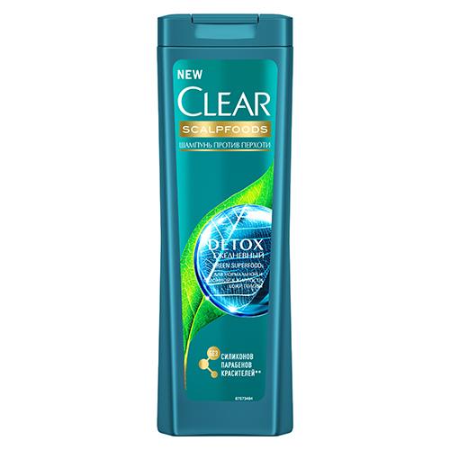 Купить Шампунь для волос CLEAR SCALPFOODS DETOX Ежедневный против перхоти 200 мл, РОССИЯ/ RUSSIA