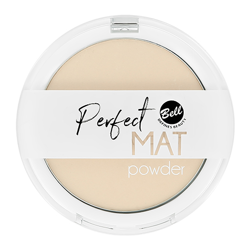 Пудра компактная для лица BELL PERFECT MAT POWDER тон 03 фиксирующая, матирующая