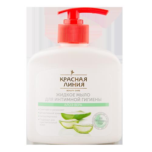 Купить Мыло жидкое для интимной гигиены КРАСНАЯ ЛИНИЯ Алое 250 мл, РОССИЯ/ RUSSIA