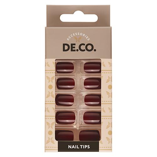 Набор накладных ногтей DE.CO. ESSENTIAL Choco 24 шт + клеевые стикеры 24 шт