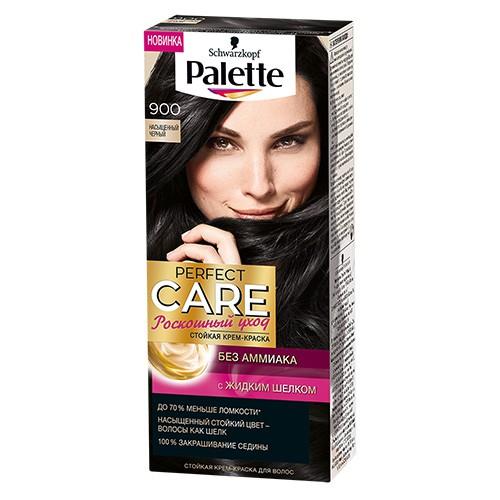 Крем-краска для волос PALETTE PERFECT CARE Тон 900 Насыщенный ЧерныйОкрашивание<br>Ухаживющая формула без Амииака вмсете с ухаживащим кондиционером сделают Ваши волосы мягкими и шелковистыми.<br>