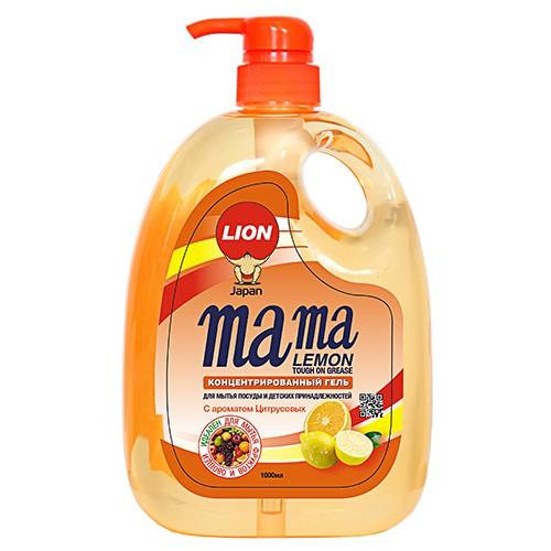 Средство для мытья посуды MAMA LEMON жидкое 1 л
