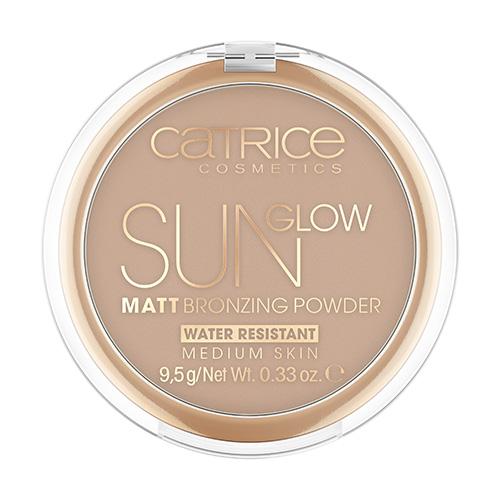 Пудра компактная для лица CATRICE SUN GLOW MATT тон 030 средний бронзовый с эффектом загара