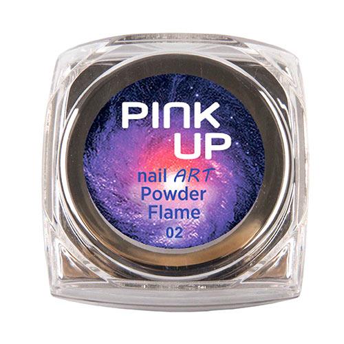 Втирка для ногтей `PINK UP` NAIL ART тон Flame 3 грДизайн ногтей<br>Зеркальная втирка для ногтей Pink UP, 3гр Предназначена для втирания в верхнее покрытие без липкого слоя поверх лака, гель-лака или геля.<br>