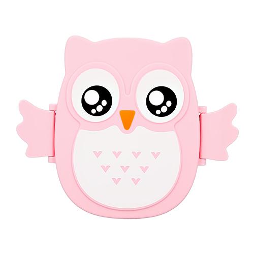 Ланч-бокс FUN OWL pink 16 см