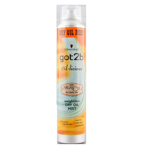 Спрей-уход для укладки волос `GOT2B` с маслом арганы 200 млУкладка<br>Для:<br>- контроля над непослушными прядями;<br>- блеска;<br>- мгновенной гладкости.<br>Разглаживает непослушные пряди и обеспечивает идеально аккуратную укладку. Подходит даже для тонких волос. Не утяжеляет волосы.<br>