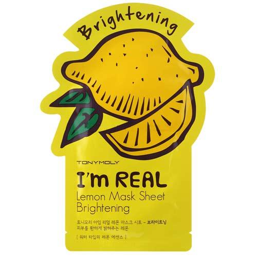 Маска для лица `TONYMOLY` I`M REAL с экстрактом лимона 21 млМаски<br>Маска обладает улучшающим цвет лица эффектом. Делает потускневшую и загоревшую кожу лица сияюющей и дышащей здоровьем. Натуральные компоненты, шелковистая текстура, простота в применении, максимальное проникновение полезных веществ в кожу.<br>