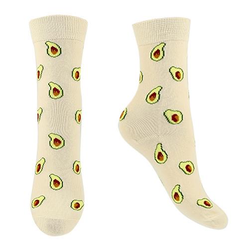 Носки женские SOCKS beige with avocado