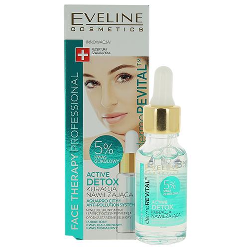 Купить Сыворотка для лица EVELINE FACE THERAPY PROFESSIONAL увлажняющая Active detox 18 мл, ПОЛЬША/ POLAND