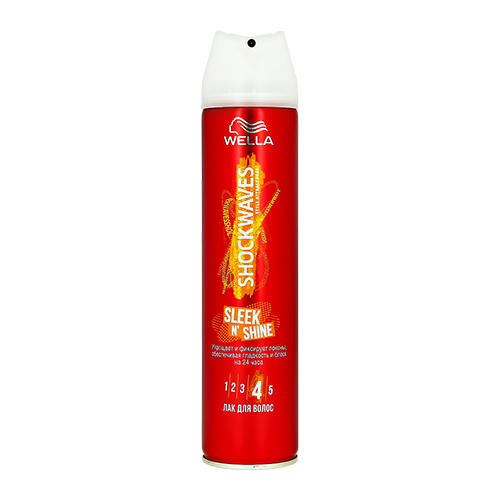 Купить Лак для волос WELLA SHOCKWAVES Sleek n shine 250 мл, ГЕРМАНИЯ/ GERMANY