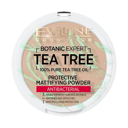 Пудра компактная для лица EVELINE BOTANIC EXPERT 3 в 1 антибактериальная матирующая тон 003 light beige