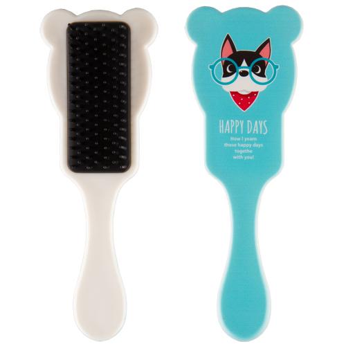 Купить Расческа для волос с ушками MISS PINKY FUNNY ANIMALS голубая, КИТАЙ/ CHINA