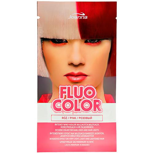 Оттеночный шампунь для волос JOANNA FLUO COLOR тон розовый 35 г