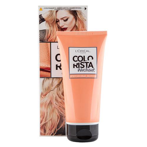 Бальзам для волос красящий LOREAL COLORISTA Персик 80 млОкрашивание<br>Смываемый красящий бальзам для волос «Колориста» подойдет для осветленных или светло-русых волос. Цвет продержится до недели и смоется после 2-3 применений обычного шампуня. Нежный оттенок Персиковые волосы понравится тем, кто предпочитает чувственные образы, но не хочет экстремальных цветов. Ваш итоговый цвет зависит от исходного цвета волос, обязательно ознакомьтесь со схемой оттенков.<br>В состав упаковки входит: флакон с красящим бальзамом 80 мл; 2 пары одноразовых перчаток; инструкция по применению.<br>