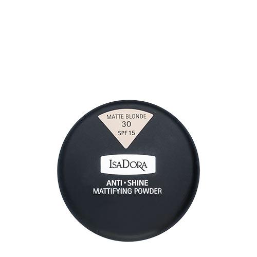 Пудра компактная для лица ISADORA ANTI SHINE тон 30 матирующаяПудра<br>Тончайшая компактная пудра устраняет жирный блеск и матирует кожу. Солнцезащитный фактор SPF 15. Мягкий моющийся спонж в комплекте. Для нормальной и жирной кожи. Не содержит ароматизаторов<br>