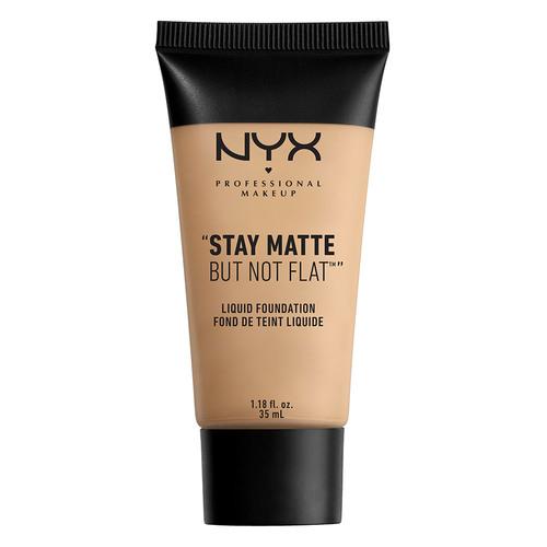 Основа тональная для лица `NYX PROFESSIONAL MAKEUP` STAY MATTE BUT NOT FLAT тон 02 Nude матирующаяТональные средства<br>Матирующая основа под макияж создает идеальное покрытие на коже, которое выглядит объемным. Подходит как для создания студийных макияжей, так и для использования в течение дня. Идеально долго держится. Не содержит минеральных масел, которые могут закупоривать поры и препятствуют дыханию кожи. Основа продукта увлажняет кожу. Матирует в течение всего дня.<br>