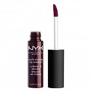 Помада для губ `NYX PROFESSIONAL MAKEUP` SOFT MATTE LIP CREAM тон 13 Transilvania матовая жидкая