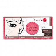 Набор для бровей `LOVELY` SET EYEBROWS CREATOR тон 1