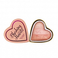 Румяна для лица `I HEART REVOLUTION` BLUSHING HEARTS тон peachy pink kisses