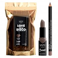 Набор для губ `NYX PROFESSIONAL MAKEUP` LOVE LUST DISCO (помада+ карандаш Suede Matte) тон 01