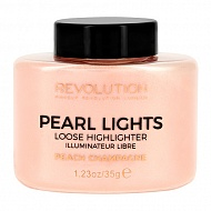 Хайлайтер для лица `REVOLUTION` PEARL LIGHTS тон peach champagne