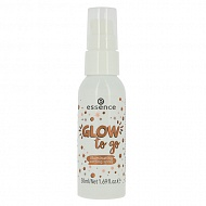 Спрей для фиксации макияжа `ESSENCE` GLOW TO GO с эффектом сияния