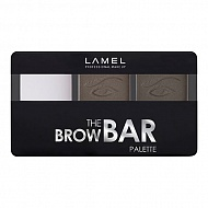 Набор для бровей `LAMEL PROFESSIONAL` THE BROW BAR PALETTE тон 402