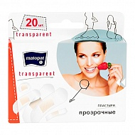 Набор пластырей `MATOPAT` TRANSPARENT 20 шт