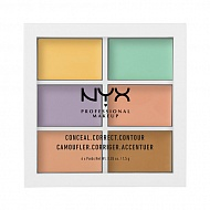 Набор консилеров для лица `NYX PROFESSIONAL MAKEUP` COLOR CORRECTING CONCEALER тон 04 6 оттенков