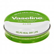Бальзам для губ `VASELINE` `LIP THERAPY` с экстрактом алоэ вера (в баночке) 20 г