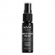Спрей-фиксатор макияжа `NYX PROFESSIONAL MAKEUP` MATTE FINISH SETTING SPRAY мини матирующий