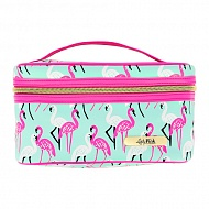 Косметичка квадратная `LADY PINK` MUST HAVE LIMITED Flamingo