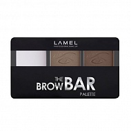 Набор для бровей `LAMEL PROFESSIONAL` THE BROW BAR PALETTE (тени и воск) тон 403